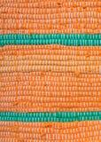 Detalhe de laranja com o tapete de pano verde Fotografia de Stock Royalty Free