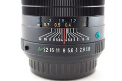 Detalhe de lente de câmera Fotografia de Stock Royalty Free