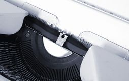 Detalhe de máquina de escrever Imagem de Stock Royalty Free