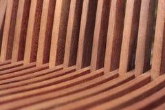 Detalhe de madeira da cadeira de jardim Fotografia de Stock Royalty Free