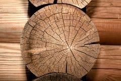 Detalhe de madeira da casa Fotografia de Stock Royalty Free
