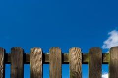 Detalhe de madeira da cerca Fotos de Stock Royalty Free
