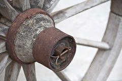 Detalhe de madeira da roda Imagens de Stock Royalty Free