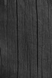 Detalhe de madeira da textura da pintura do alcatrão de madeira do preto da placa da prancha, grande teste padrão macro rústico e Fotografia de Stock