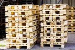 Detalhe de madeira das paletas foto de stock royalty free
