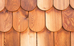 Detalhe de madeira das telhas Imagens de Stock