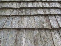 Detalhe de madeira do teste padrão do telhado Foto de Stock