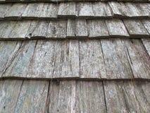 Detalhe de madeira do teste padrão do telhado Fotos de Stock