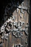 Detalhe de madeira velho da porta Fotos de Stock Royalty Free