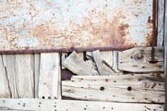 Detalhe de madeira velho da porta Fotografia de Stock Royalty Free