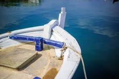 Detalhe de madeira velho do barco de pesca fotografia de stock