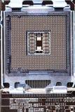 Detalhe de mainboard moderno do computador (cartão-matriz) Imagens de Stock
