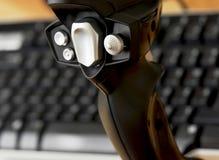 Detalhe de manche com teclado Fotos de Stock Royalty Free