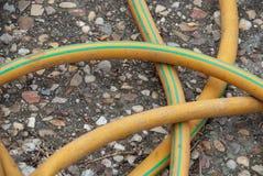 Detalhe de mangueira amarela foto de stock royalty free