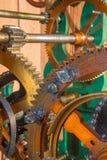 Detalhe de maquinismo de relojoaria do colcktower Fotos de Stock Royalty Free
