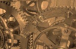 Detalhe de maquinismo de relojoaria do colcktower Fotos de Stock