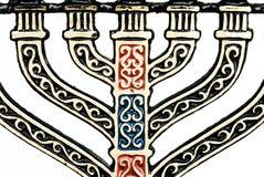 Detalhe de menorah imagens de stock royalty free
