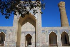 Detalhe de mesquita Kalon em Bukhara foto de stock royalty free