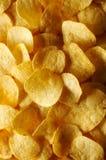 Detalhe de microplaquetas de batata fritadas Fotos de Stock Royalty Free