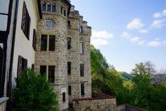Detalhe de montanhês do castelo de lichtenstein fotos de stock