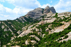 Detalhe de montanhas de Monserrate na área de Barcelona (Catalonia, Espanha) Fotografia de Stock