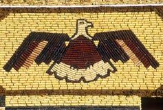 Detalhe de mosaico no palácio do milho, atração em Mitchell ocidental, SD da borda da estrada fotos de stock royalty free