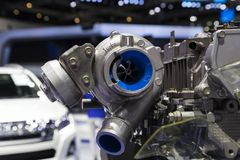 Detalhe de motor diesel fotografia de stock