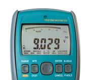 Detalhe de multímetro digital azul foto de stock royalty free