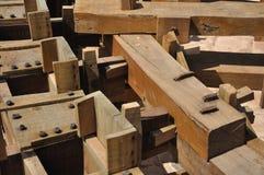 Detalhe de noria (de madeira-roda) Foto de Stock Royalty Free