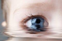 Detalhe de olho humano imagens de stock