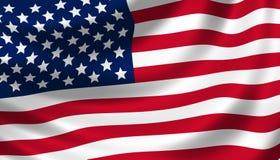 Detalhe de ondulação da bandeira americana Imagens de Stock