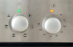 Detalhe de Oven Settings foto de stock royalty free
