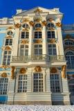 Detalhe de palácio de Catherine em Tsarskoe Selo no inverno pushkin St Petersburg Rússia imagem de stock royalty free