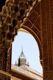 Detalhe de palácio de Alhambra fotos de stock royalty free