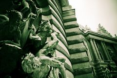 Detalhe de palácio imperial Viena.   foto de stock royalty free