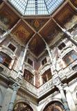 Detalhe de Palacio a Dinamarca Bolsa em Porto Fotos de Stock