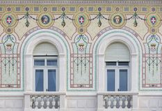 Detalhe de Palazzo del Governo em Trieste Fotos de Stock Royalty Free