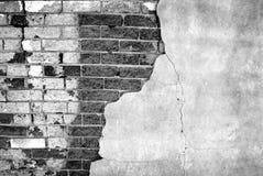 Detalhe de parede de tijolo velha foto de stock
