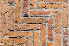 Detalhe de parede velha do vintage no vermelho Foto de Stock