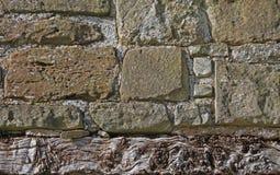 Detalhe de paredes de pedra e de estrutura antigas Imagens de Stock