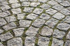 Detalhe de pavimento da pedra em Dusseldorf, Alemanha Fotos de Stock