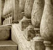 Detalhe de pedra da balaustrada Fotografia de Stock