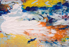Detalhe de pintura a óleo Imagens de Stock Royalty Free