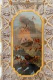 Detalhe de pintura do teto foto de stock royalty free