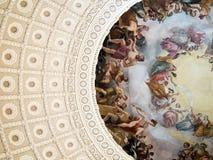 Detalhe de pintura na construção do Capitólio do Estados Unidos imagem de stock royalty free