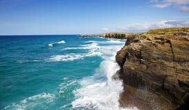 Detalhe de Playa de las Catedrales Foto de Stock Royalty Free