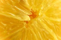 Detalhe de polpa com núcleo fresco do limão fotografia de stock royalty free