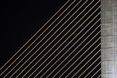 Detalhe de ponte de Rama 8 imagem de stock
