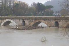 Detalhe de Ponte Milvio foto de stock