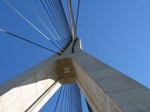 Detalhe de ponte moderna Fotografia de Stock Royalty Free